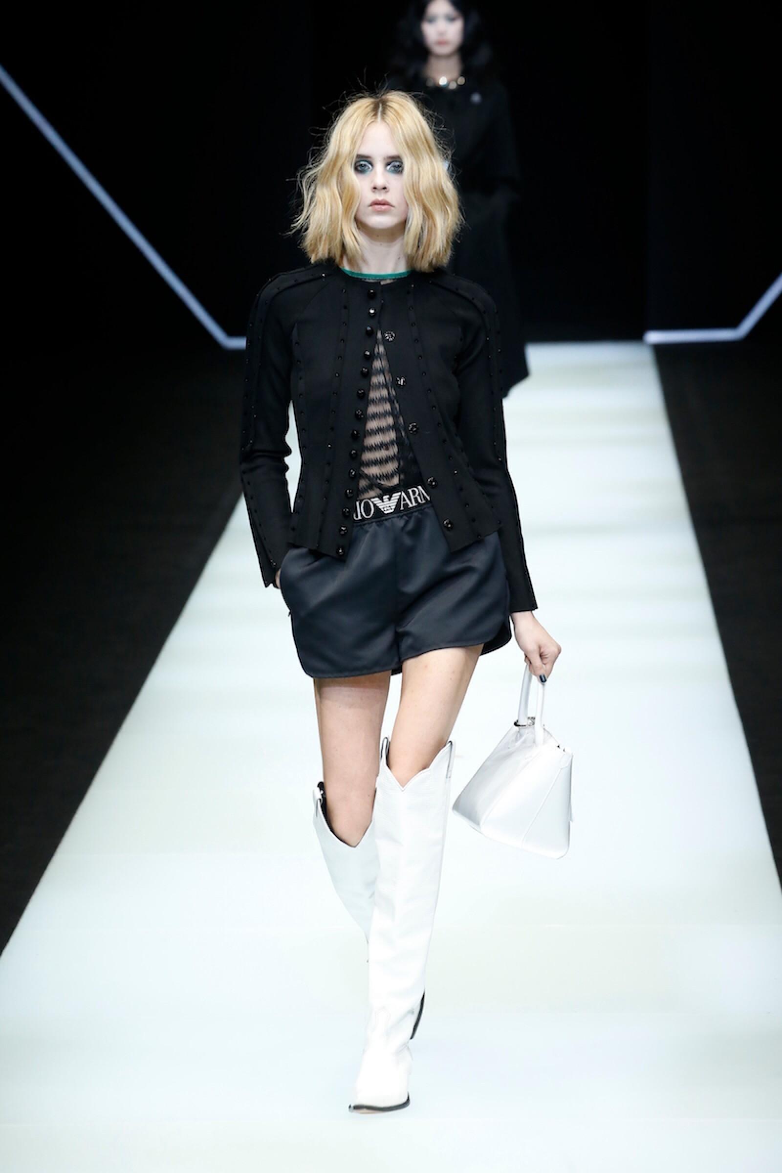 Emporio Armani show, Runway, Fall Winter 2018, Milan Fashion Week, Italy - 25 Feb 2018