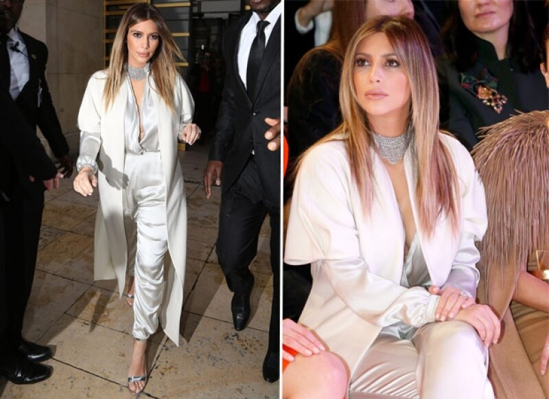 La socialité ha sido noticia durante el Paris Fashion Week por su buen gusto en el vestir. El plata y el negro han sido sus colores favoritos.