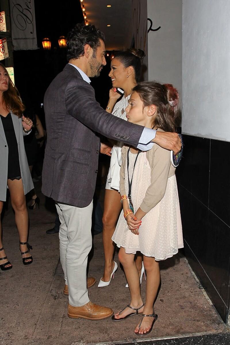 Pepe Bastón y Eva Longoria acudieron a cenar tras los Kids´Choice Awards.