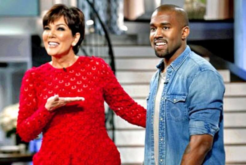 El rapero asistió al show de su suegra, Kris Jenner, cuyo último capítulo será transmitido el viernes. TMZ asegura, ahí mostrarán la primera imagen de la hija de Kim Kardashian.