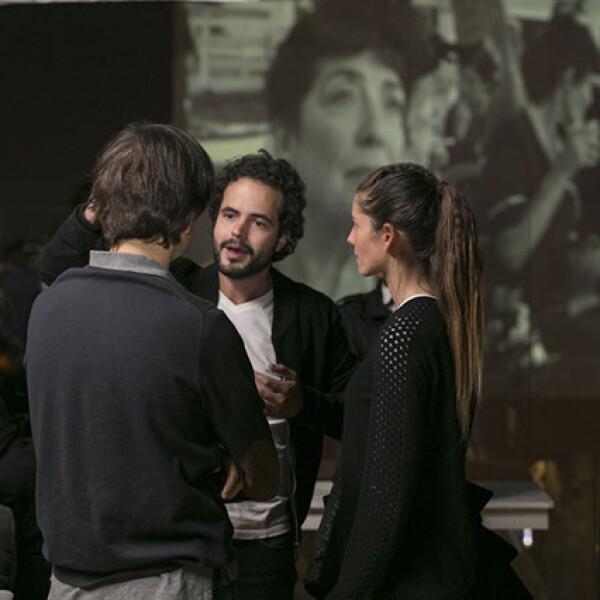 Javier Vallaure,Tarek Echeverría y Ana Bouffier
