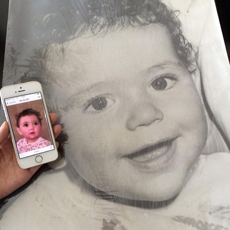La conductora compartió una foto de su hija actualmente y otra donde aparece Martín Fuentes de bebé, no cabe duda que los dos son iguales.