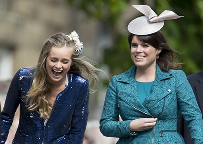 La princesa Eugenia fue la encargada de presentar a la pareja.