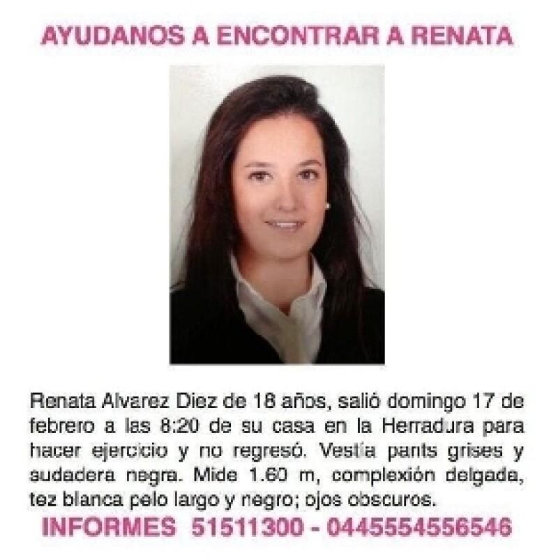 La madre de la joven desaparecida la mañana del domingo en el Estado de México, aseguró que en el circuito cerrado se aprecia que una persona va detrás de ella, pero no se logra confirmar nada.