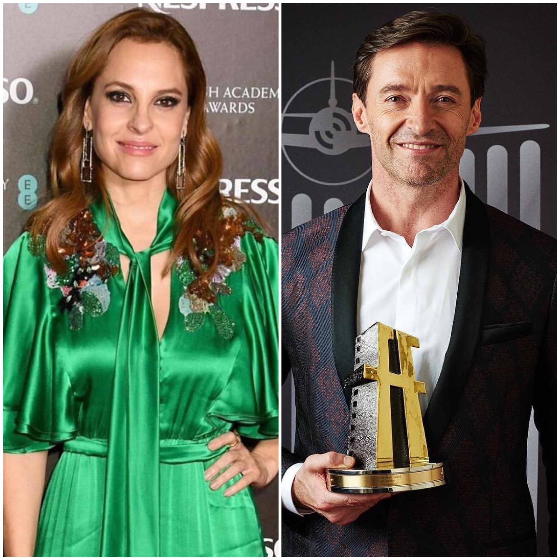 Marina de Tavira y Hugh Jackman