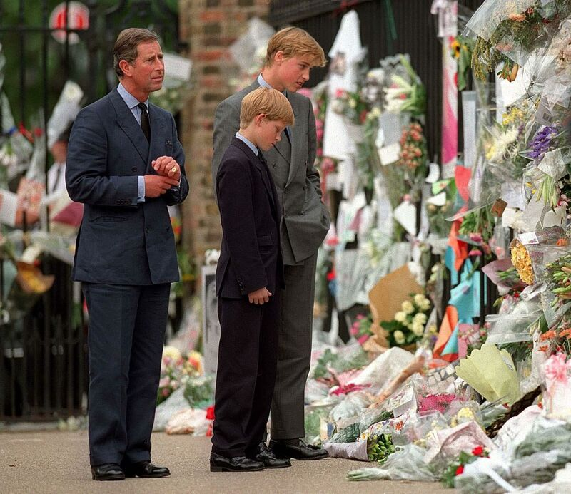 Príncipe Carlos, príncipe Harry y príncipe William