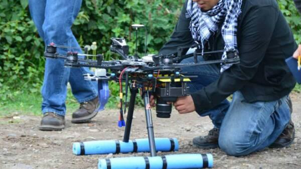 Dron en Xochimilco