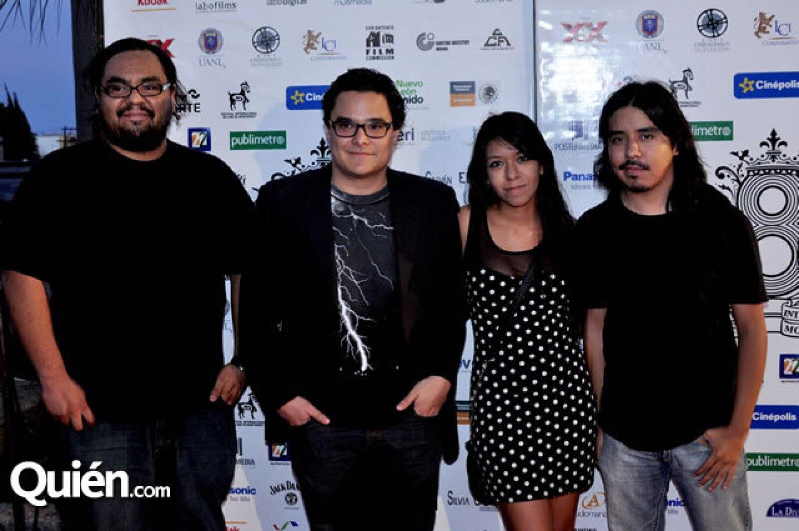 Andrés Luna, Roberto Sánchez, Karen Alcázar y Luis Martínez