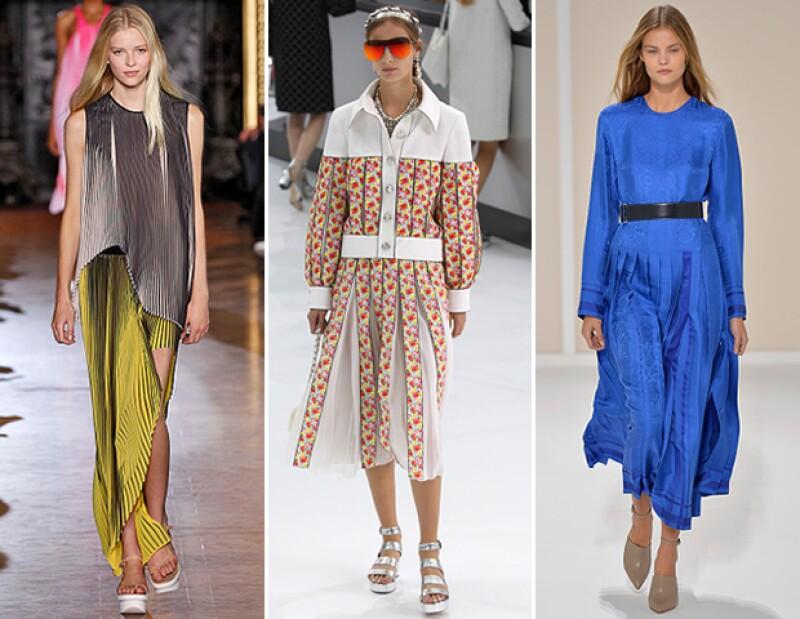 Las piezas plisadas fueron un must en pasarelas como Stella McCartney, Chanel y Hermès.