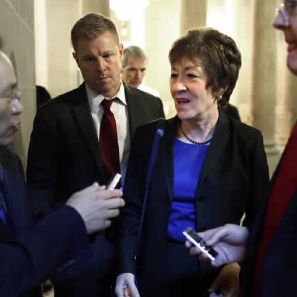 La senadora republicana y su compañero demócrata Joe Manchin tienen una propuesta que crecería el techo de deuda hasta enero.