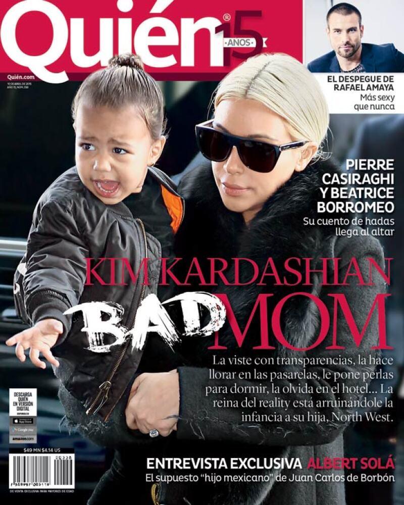 En la nueva portada de la revista Quién® hacemos un análisis de la crianza que recibe la hija de la estrella de reality, North West, una niña que está en la mira, quiera o no.