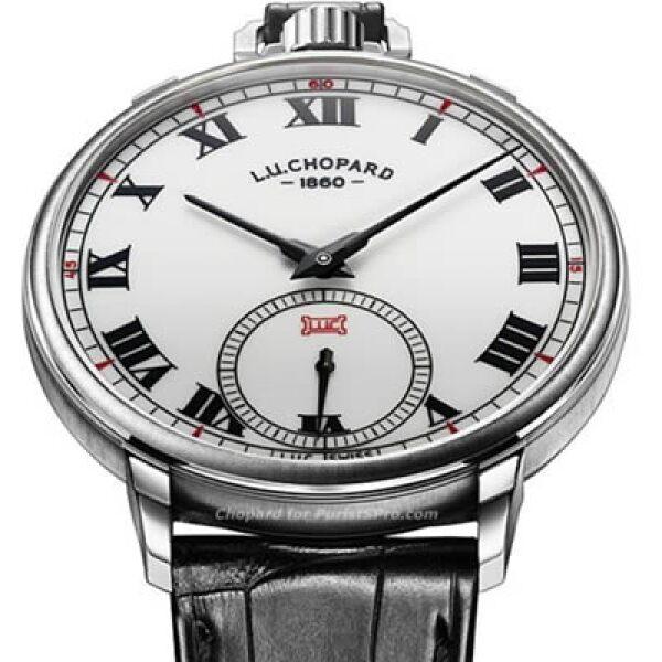 Chopard presentó, entre otras cosas, el homenaje a su fundador, Louis-Ulysse Chopard, con su pieza L.U.C Louis-Ulysse The Tribute, un reloj de pulsera que puede ajustarse como reloj de bolsillo.