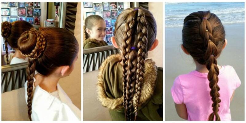 Algunos ejemplos de los peinados que Philippe Morgese le hace a su hija Emma.