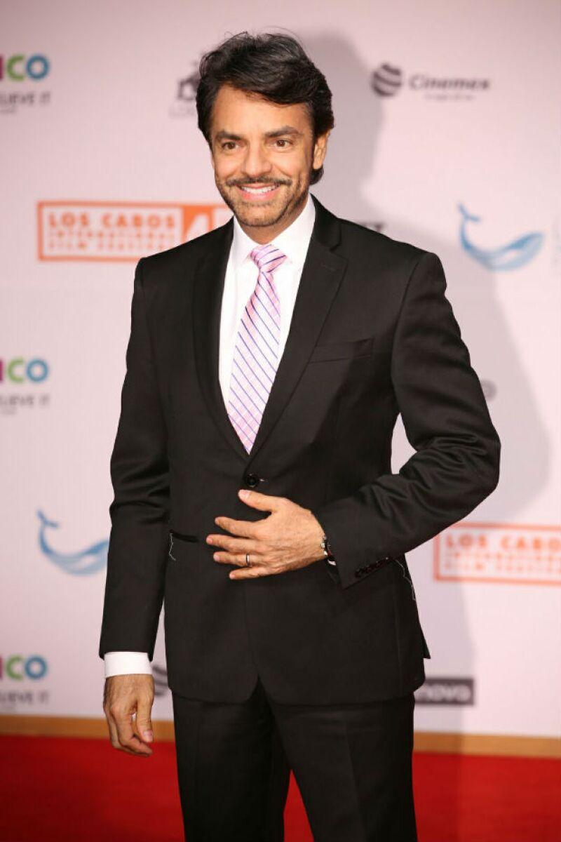 Eugenio Derbez, muy elegante, visitó esta gran fiesta del cine.