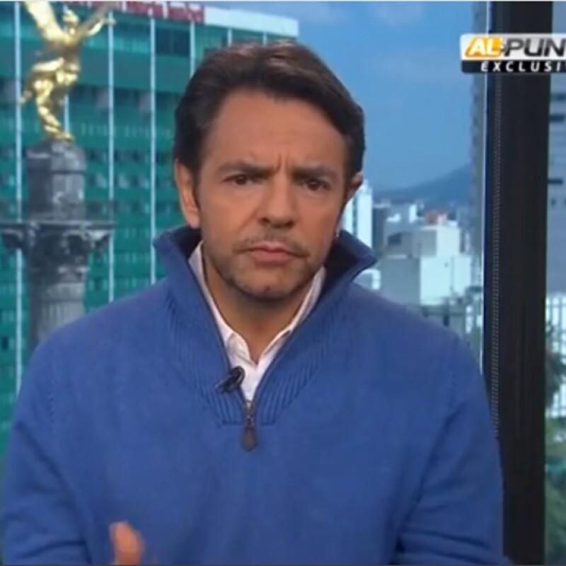 El actor mexicano, en entrevista con Jorge Ramos, lamentó que no se haga nada para solucionar el problema a pesar de la identidad de los reponsables parezca más que evidente.