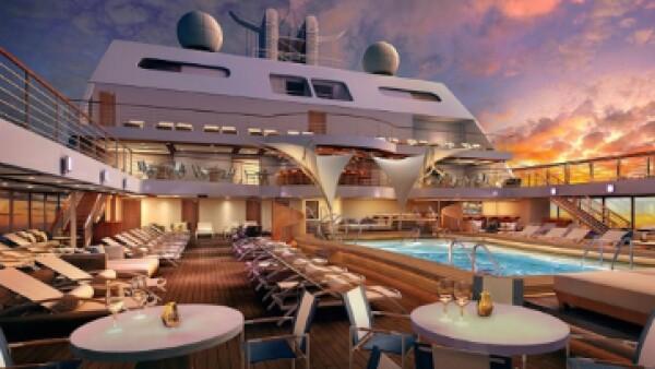 Con sólo 600 pasajeros, este barco contará con 12 niveles y 300 suites opulentas. (Foto: Seabourns )