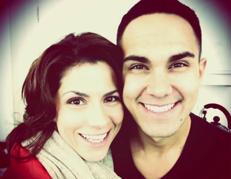 """Alessandra causó revuelo en Twitter al compartir su foto con Carlos Pena de """"Big Time Rush""""."""