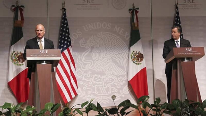 EL gobernador de California y el secretario de Relaciones Exteriores se reunieron este lunes.