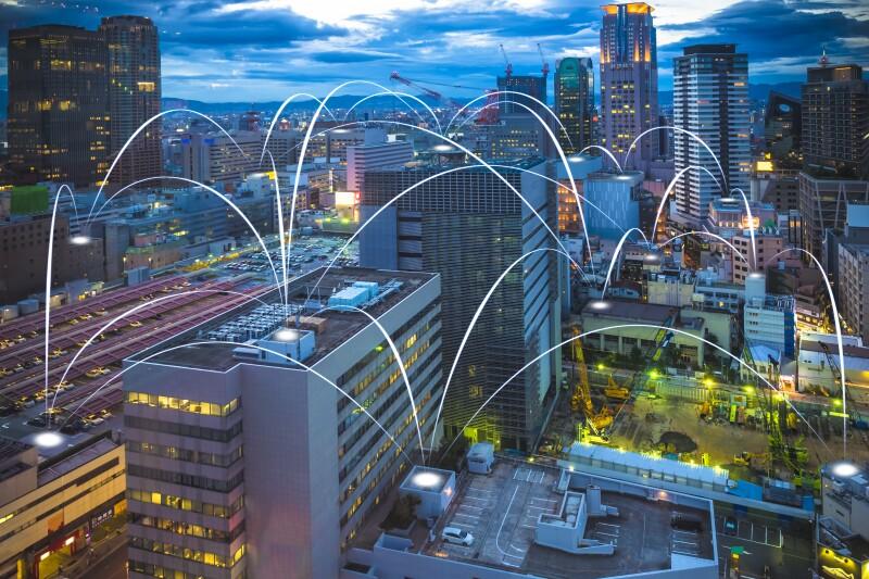 Futuristic Osaka electromagnetic signals