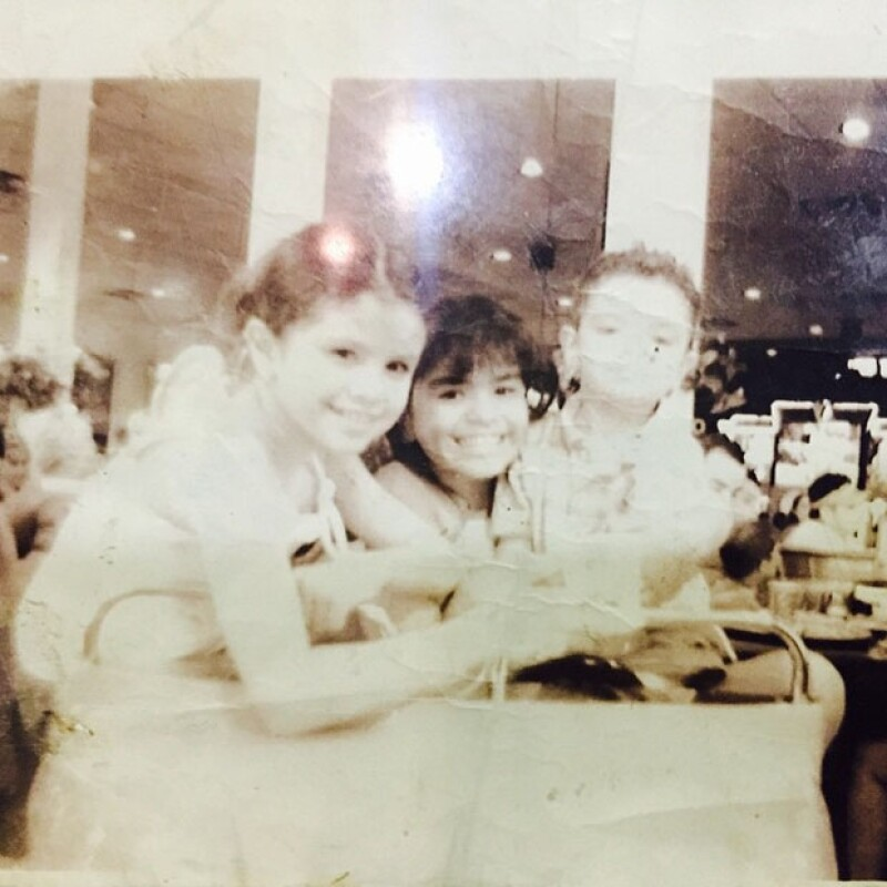 Selena compartió con sus fans esta página del pasado de su vida.