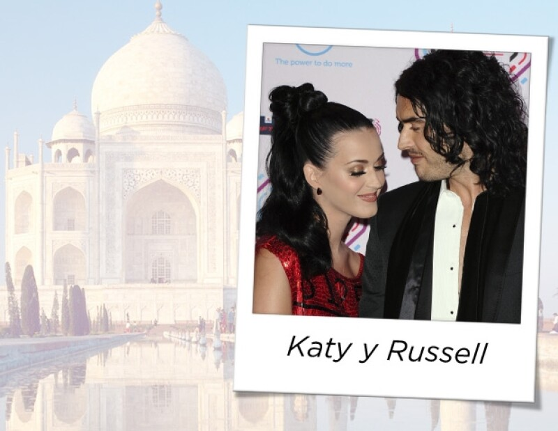 Katy y Russell se casaron en la India, el mismo lugar donde el comediante le pidió matrimonio a la cantante.