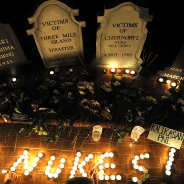 Chernóbil - 25 años - protestas en Filipinas