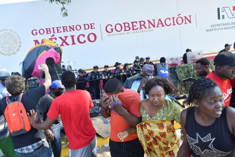 Migrantes africanos en Tapachula