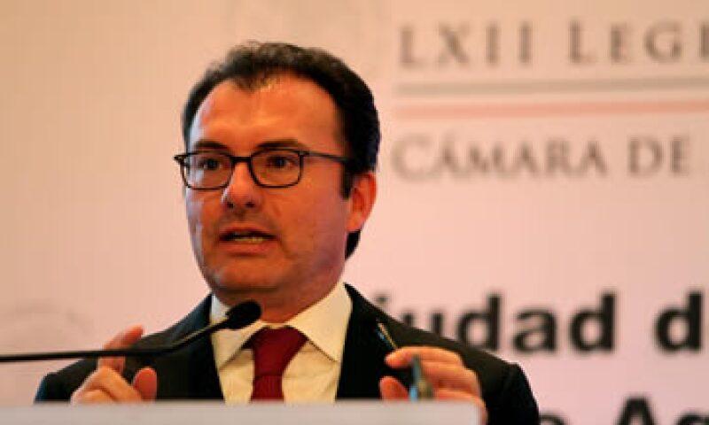 Luis Videgaray también está citado para ir a San Lázaro el 10 de septiembre. (Foto: Notimex)