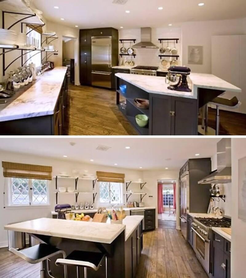Cuenta con una cocina de buen tamaño y un diseño moderno.