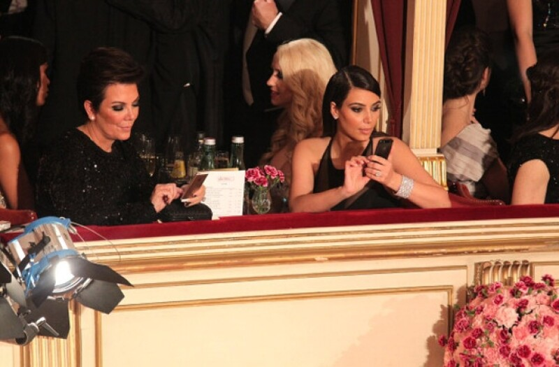 Kim estuvo muy seria durante la velada.