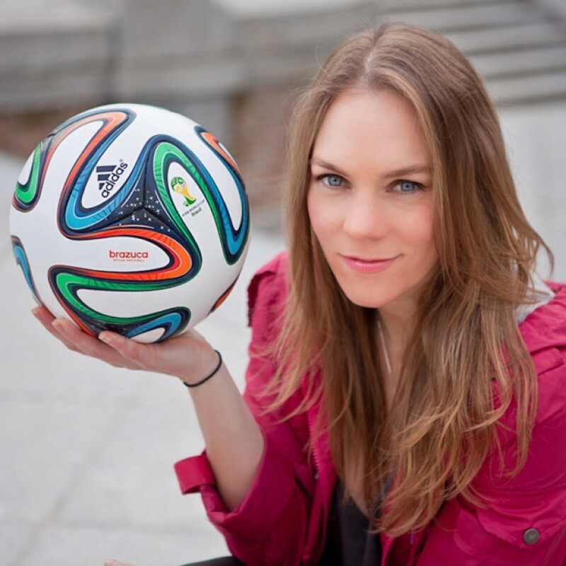 Eugenia es toda una aficionada del futbol y ha vivido el Mundial al máximo.