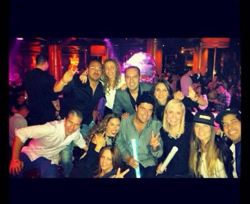 El grupo que viajó a Las Vegas el fin de semana pasado para ver a Bruno Mars.