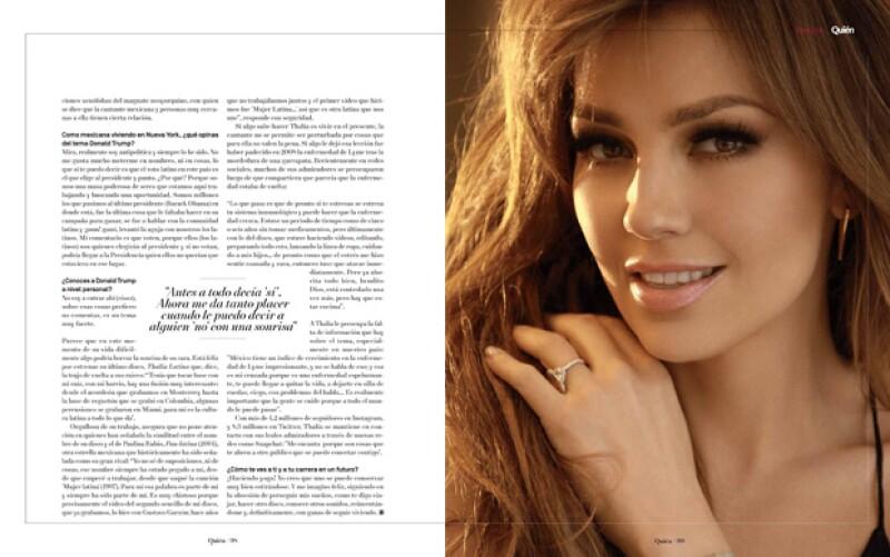 Thalía desde Nueva York.