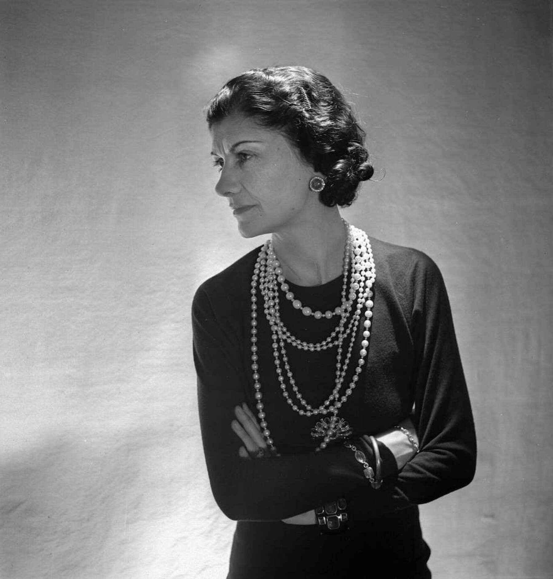 Coco Chanel, French couturier. Paris, 1936. LIP-69