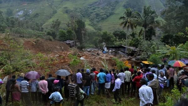 Sri Lanka deslave viviendas