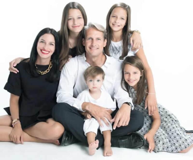 Ricardo Margáin y su familia