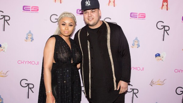 Rob Kardashian y Blac Chyna en un reciente evento en Hollywood.