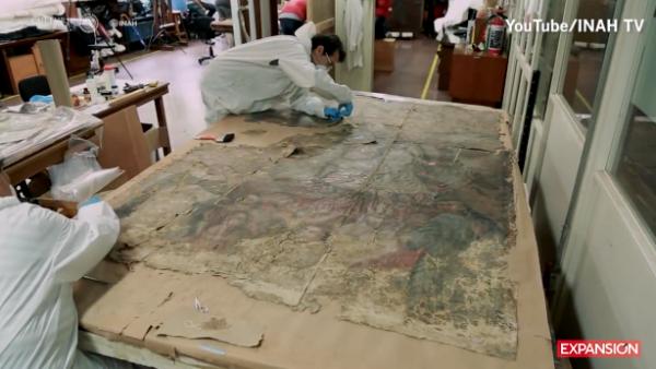 INAH restaura un lienzo del siglo XVIII dañado por el sismo del 19 de septiembre