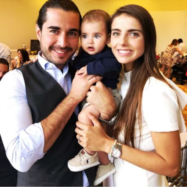 Josué Alvarado, Michelle Renaud y su hijo Marcelo