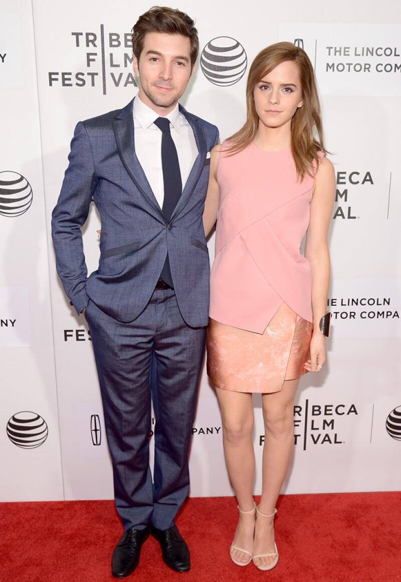Emma y Roberto en el Tribeca Film Festival el año pasado.