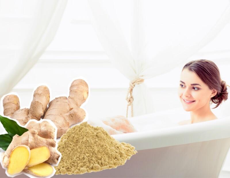 El baño con jengibre te va a ayudar si tienes gripa.