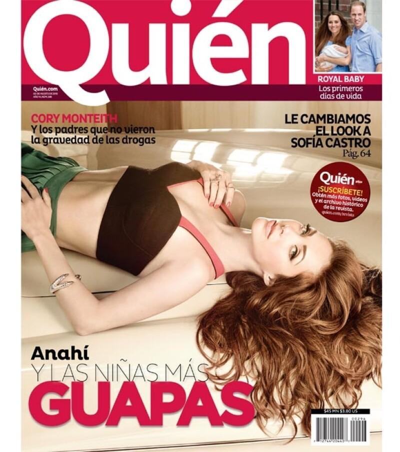 Anahí es una de Las niñas más guapas de la revista Quién.