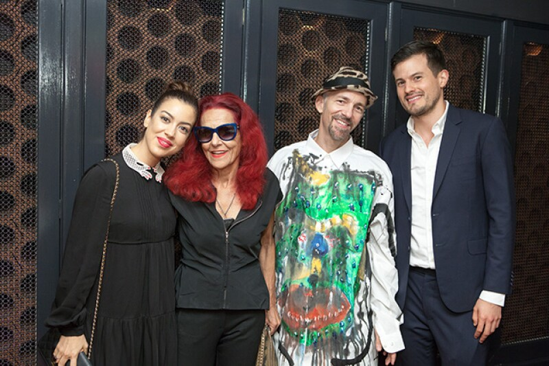 Fernanda Hernández, Patricia Field, Scooter LaForge y Michael Heredia