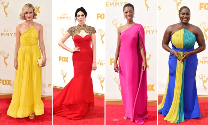 Las actrices de Orange is the New Black causaron sensación a su paso por la red carpet de los Emmy.