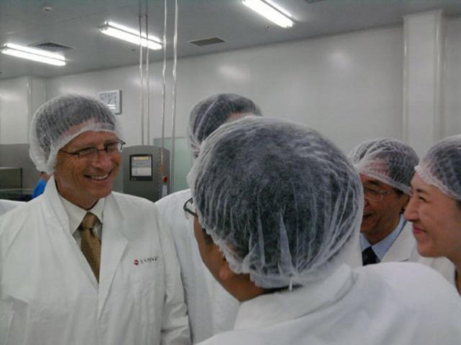 """Reunión con los científicos de Sinovac en Pekín"", escribió Bill Gates"