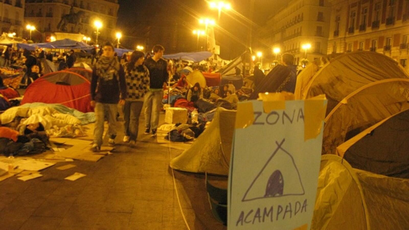 España - zona acampada