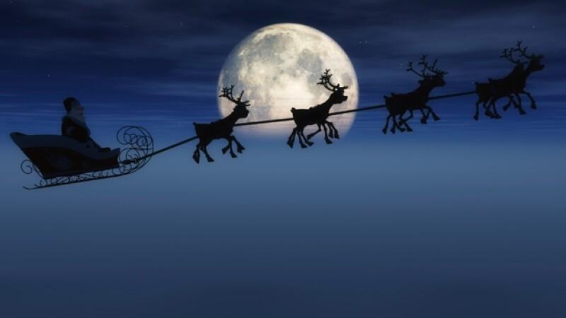 trineo Santa renos Navidad