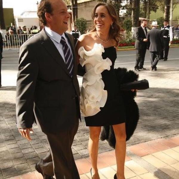 David Korenfeld Federman, Secretario del Agua y Obra Pública del Gobierno del Estado de México, acompañado de su esposa la Sra. Sandra Kershenobich.