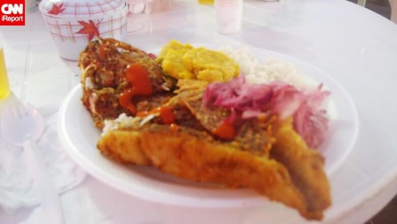 Galapagos pescado frito