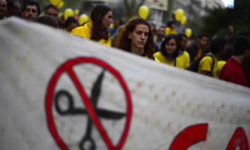 Las manifestaciones contra las severas medidas de austeridad en Europa son cada vez más comunes. (Foto: AP)